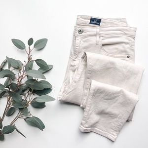 AG ADRIANO GOLDSCHMIED   Cream Stevie Ankle Pant